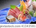 製作生魚片各種日本料理 41343581