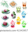 Various materials of shaved ice and summer sweets and drinks 41343957
