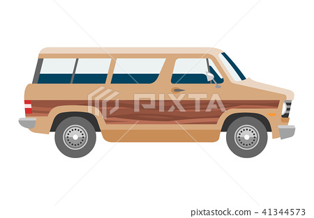 Minivan car vector van auto vehicle family minibus vehicle and automobile banner isolated citycar on 41344573