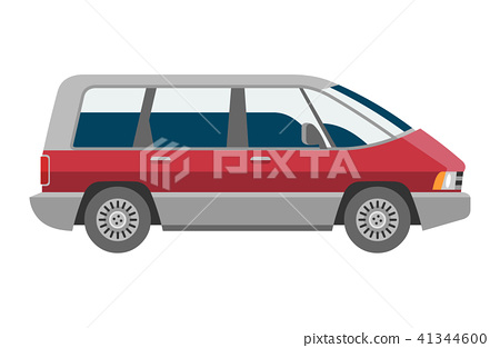 Minivan car vector van auto vehicle family minibus vehicle and automobile banner isolated citycar on 41344600
