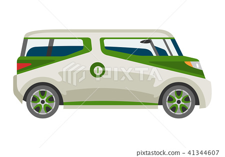Minivan car vector van auto vehicle family minibus vehicle and automobile banner isolated citycar on 41344607