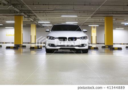 Car, underground parking lot, Korea 41344889