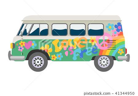 Minivan car vector van auto vehicle family minibus vehicle and automobile banner isolated citycar on 41344950