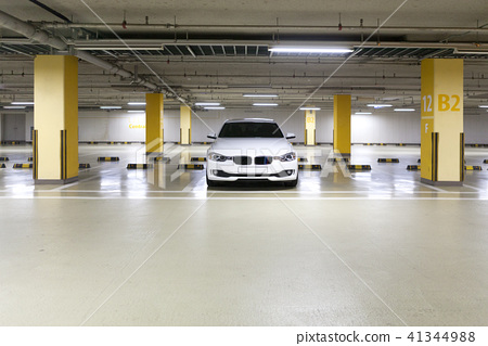 Car, underground parking lot, Korea 41344988
