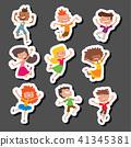 children, jumping, vector 41345381