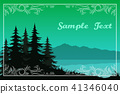 Trees, Lake and Mountains 41346040