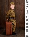 childr are soldier in retro military uniform  41346530