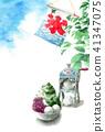 summer, greeting, card 41347075