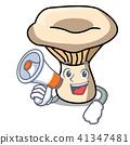With megaphone milk mushroom character cartoon 41347481