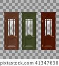 Red yellow blue doors 41347638