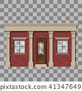 Traditional small shop facade 41347649