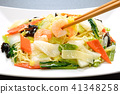 Delicious seafood fried noodles 41348258