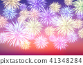 Fireworks and copy space - abstract holiday 41348284