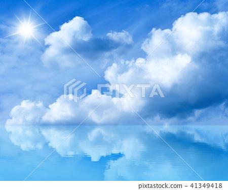 Blue sunny sky 41349418