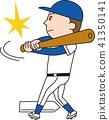 棒球 矢量 擊球 41350141