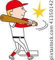 棒球 矢量 擊球 41350142
