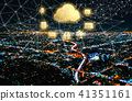Cloud Computing with Downtown Los Angeles 41351161