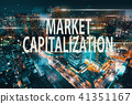 Market Capitalization with aerial view of Tokyo 41351167