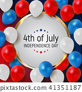 Fourth of July, Independence day of the United States. Happy Birthday America. Vector Illustration 41351187