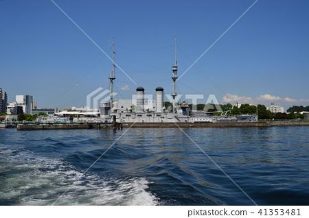 Battleship Mikasa from the sea 41353481