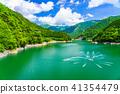 (시즈오카 현) 오오 나가시마 댐 댐 호수의 분수 41354479