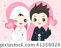 cartoon japanese wedding couple 41356026