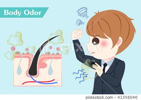 businessman with body odor problem 41356040