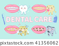 tooth with dental care 41356062