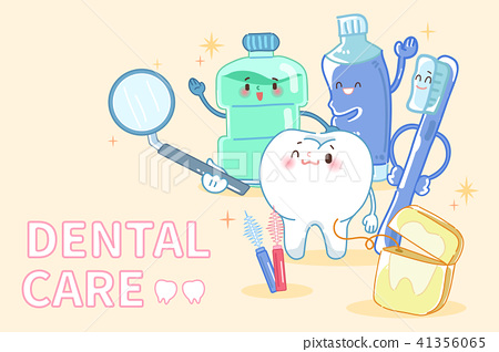 tooth with dental care 41356065
