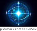 Futuristic eye detection technology concept  41356547