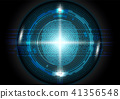 Futuristic fingerprint scanning technology concept 41356548