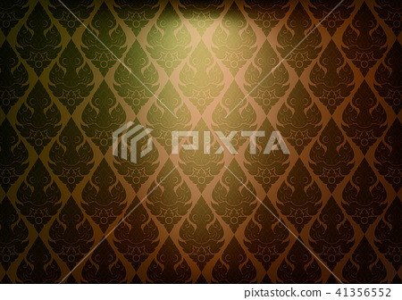 Thai vintage pattern vector abstract background 41356552