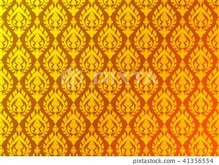 Thai golden vintage pattern vector background 41356554