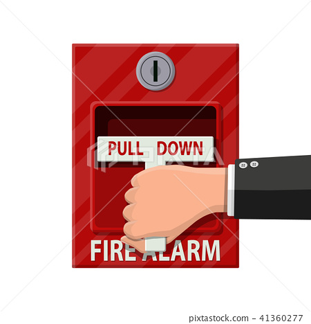 Hand switch fire alarm system. Fire equipment. 41360277