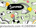 Summer doodles symbol elements for beach party 41360964