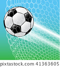 Soccer Ball In the net-Vector Illustration 41363605