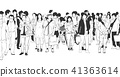 City people tourist shopping business asia vector 41363614