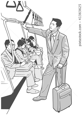 Young business man commuting vector art 41363625