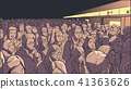 Crowded metro, subway station vector art 41363626
