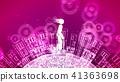 abstract man kick 41363698