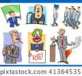 set of politics and politician cartoon concepts 41364535