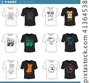 t shirt decorative designs set 41364538
