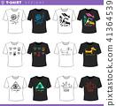 t shirt concept designs set 41364539