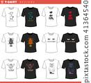 t shirt decorative concept designs set 41364540