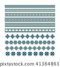 Asian frame ornament, pattern brush ,korean 41364863