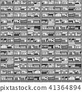 Seamless pattern residential commercial building 41364894
