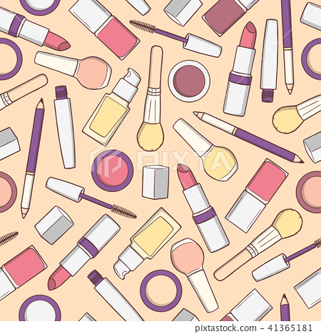 Seamless pattern with cosmetic products  41365181