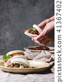 Gua bao buns with pork 41367402