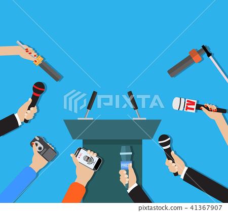 Hands holding microphones 41367907