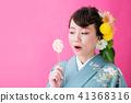 kimono, female, lady 41368316
